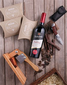 gifts: Red Wine & Biltong Essentials Crate!