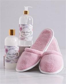 gifts: Pink Floral Slipper Set!