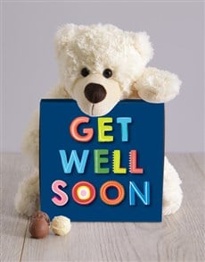 Picture of Teddy and Get Well Chocolate Box!