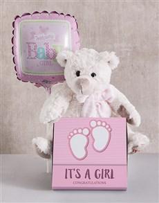 gifts: Baby Girl Teddy Bundle!