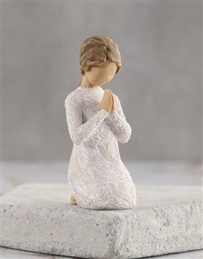 gifts: Angel of Prayer for Peace Willow Tree Figurine!