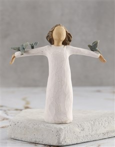 gifts: Happiness Willow Tree Figurine!