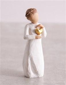 gifts: Keepsake Girl Willow Tree Figurine!