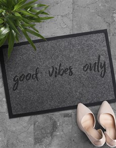 gifts: Good Vibes Only Doormat!