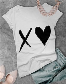 gifts: XO Heart Ladies T Shirt!