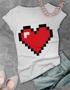 gifts: Retro Gaming Heart Ladies T Shirt!
