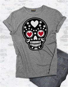 gifts: Mexican Heart Skull T Shirt!