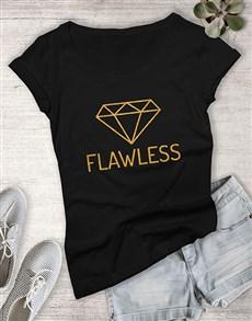 gifts: Flawless Diamond Ladies T Shirt !