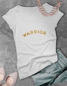 gifts: Warrior Glitter Ladies T Shirt !