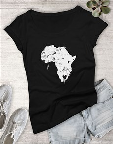 gifts: Heart In South Africa Ladies T Shirt!