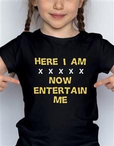 gifts: Entertain Me Kids T Shirt!