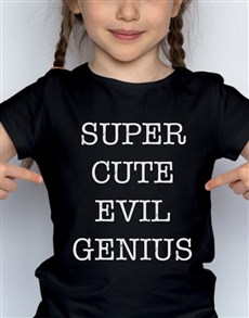 gifts: Evil Genius Kids T Shirt!