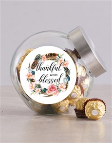 gifts: Thankful and Blessed Candy Jar!