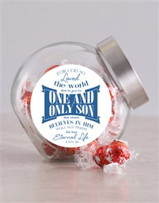 gifts: Believe in Him Candy Jar!