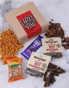 gifts: I Love Everything About You Biltong Box!