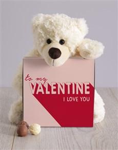 gifts: To My Valentine Teddy Hamper!