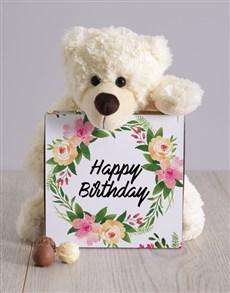 gifts: Feminine Floral Birthday Teddy Hampers!