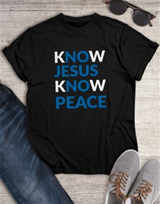 gifts: Know Jesus Know Peace Shirt!