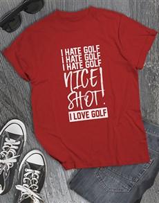 gifts: Nice Shot Golfer Shirt!