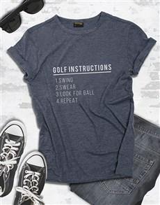 gifts: Golf Instructions Shirt!