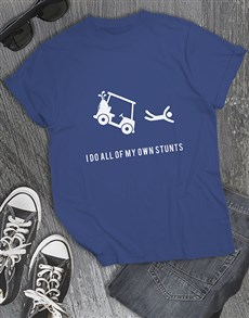 gifts: I Do My Own Stunts Golfer Shirt!
