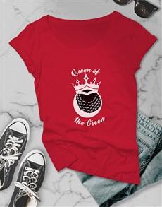 gifts: Queen Of The Green Golfer Shirt!