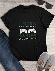 gifts: Gaming Addiction Tshirt!