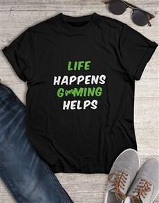 gifts: Life Happens Gaming Tshirt!