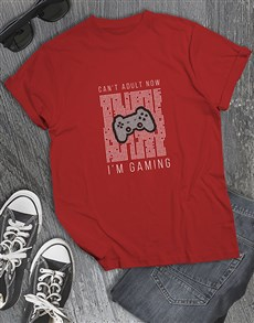gifts: Cant Adult Im Gaming Tshirt!