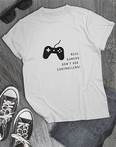 gifts: Real Gamers Dont Use Controllers Tshirt!