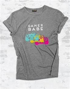 gifts: Gamer Babe Ladies Tshirt!
