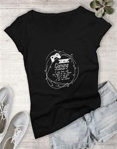 gifts: Gaming Woman Tshirt!