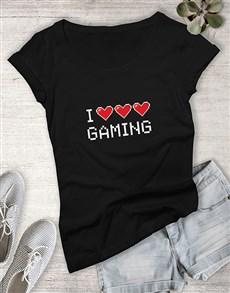 gifts: I Heart Gaming Ladies Tshirt!