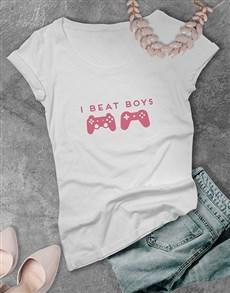 gifts: I Beat Boys Gaming Tshirt!