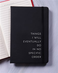 gifts: No Specific Order A5 Notebook!
