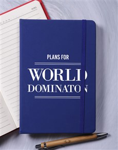 gifts: World Domination A5 Notebook!