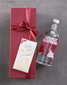 gifts: Red Box of Absolut Raspberry!