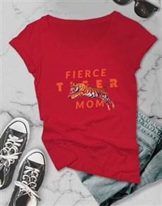 gifts: Fierce Tiger Mom Ladies T Shirt!
