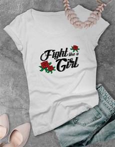 gifts: Fighting Spirit Ladies T Shirt!
