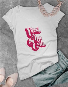 gifts: Yes She Can Ladies T Shirt!