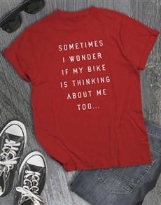 gifts: Sometimes I Wonder IF My Bike T Shirt!