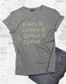 gifts: Bike And Coffee T Shirt!