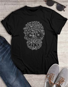 gifts: Skull Bicycle Graphic T Shirt!