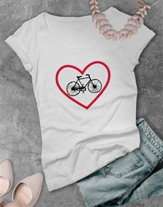 gifts: Cycling Road Sign Love Ladies T Shirt!