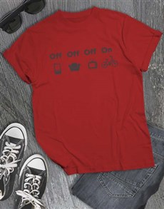 gifts: Life Off Bicycle On T Shirt!