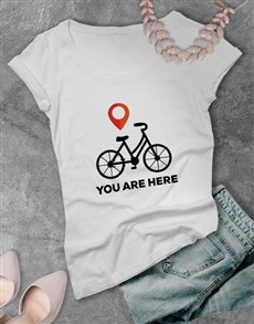 gifts: You Are Here Ladies T Shirt!