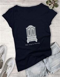gifts: Door To Narnia Ladies T Shirt!