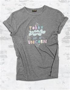 gifts: Be A Unicorn Ladies T Shirt!