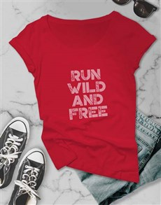 gifts: Run Free Ladies T Shirt!