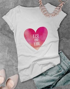 gifts: Rise and Run Heart Ladies T Shirt!